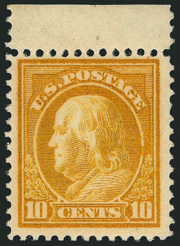 Cost of US Stamp Scott Catalogue #416 - 1912 10c Franklin Perf 12. Robert Siegel Auction Galleries, Dec 2013, Sale 1062, Lot 602