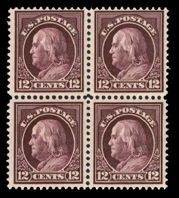 Prices of US Stamp Scott # 417: 12c 1914 Franklin Perf 12. Cherrystone Auctions, Jun 2014, Sale 201406, Lot 89