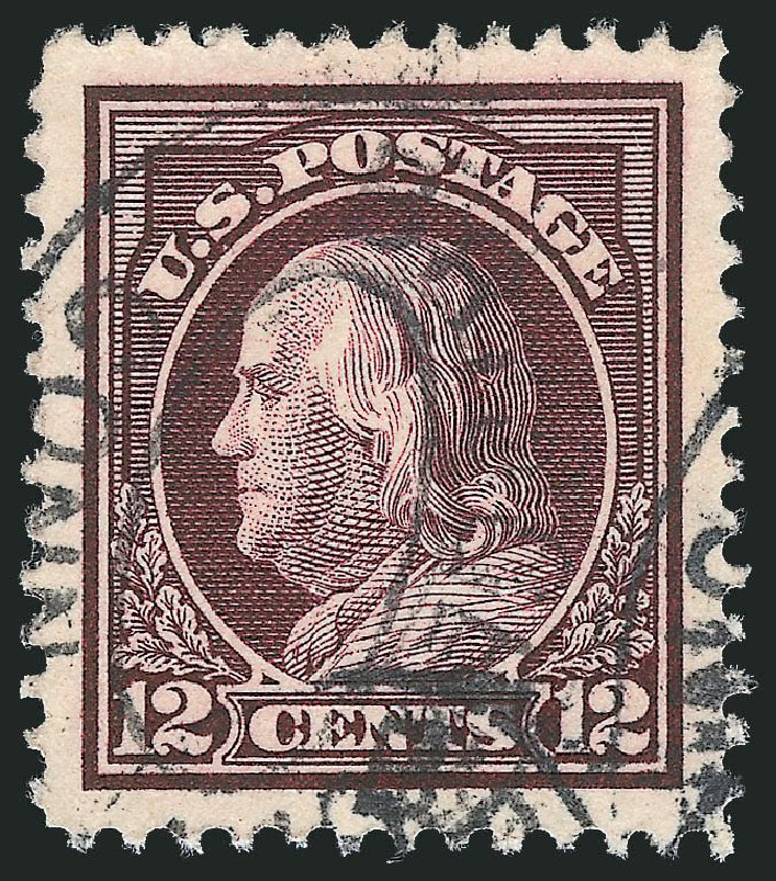 US Stamps Price Scott #417: 1914 12c Franklin Perf 12. Robert Siegel Auction Galleries, Feb 2015, Sale 1093, Lot 270