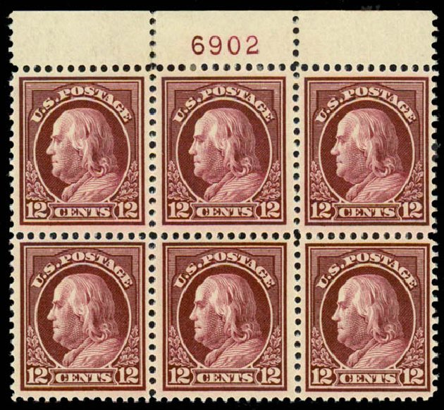 US Stamps Value Scott Catalogue #417 - 1914 12c Franklin Perf 12. Daniel Kelleher Auctions, Sep 2013, Sale 639, Lot 3525