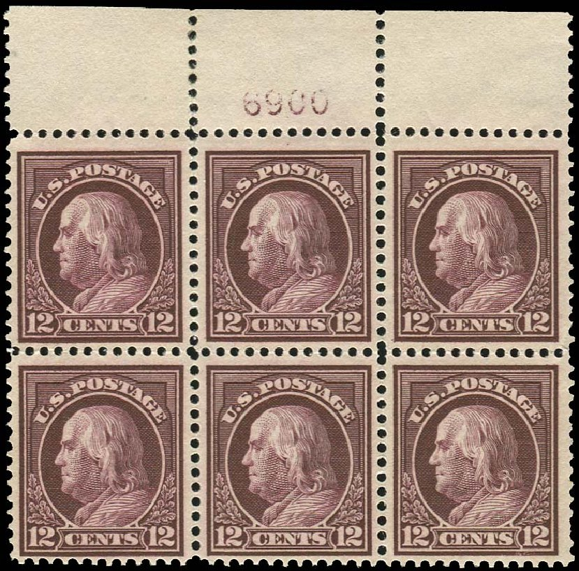 Value of US Stamp Scott # 417 - 1914 12c Franklin Perf 12. Regency-Superior, Jan 2015, Sale 109, Lot 1635