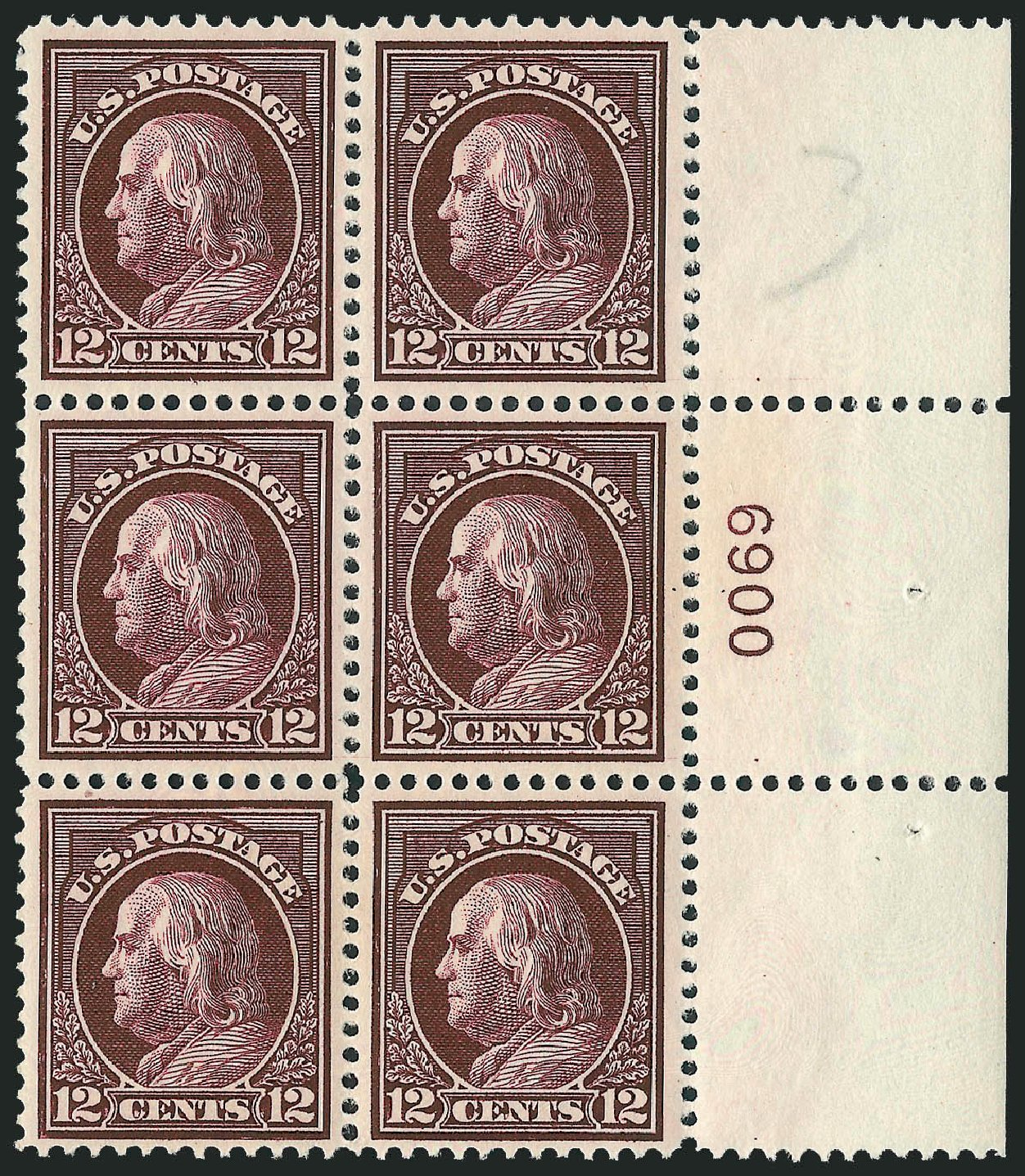 US Stamp Prices Scott Catalog # 417: 12c 1914 Franklin Perf 12. Robert Siegel Auction Galleries, Mar 2014, Sale 1067, Lot 1502