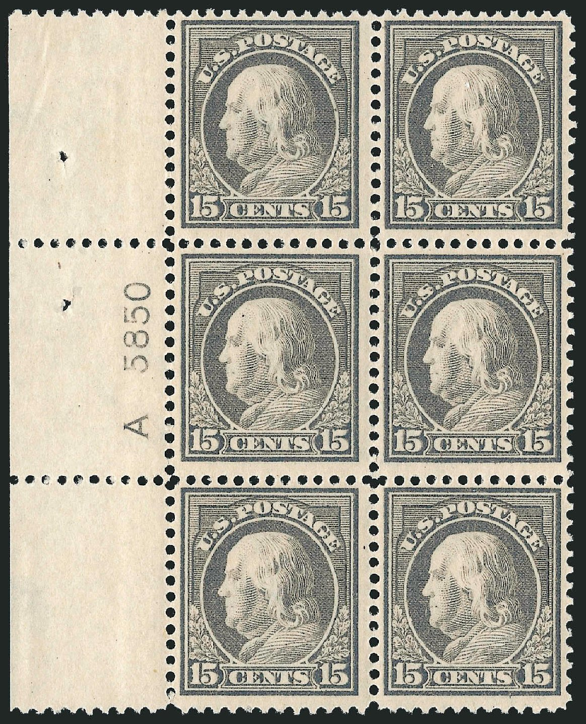 Costs of US Stamp Scott Cat. #418: 15c 1912 Franklin Perf 12. Robert Siegel Auction Galleries, Jul 2014, Sale 1077, Lot 258