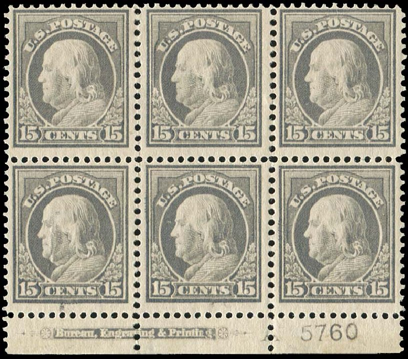 Prices of US Stamp Scott #418 - 1912 15c Franklin Perf 12. Regency-Superior, Jan 2015, Sale 109, Lot 1636