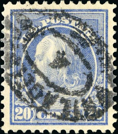Prices of US Stamps Scott Catalogue # 419: 1914 20c Franklin Perf 12. Spink Shreves Galleries, Jan 2015, Sale 150, Lot 168