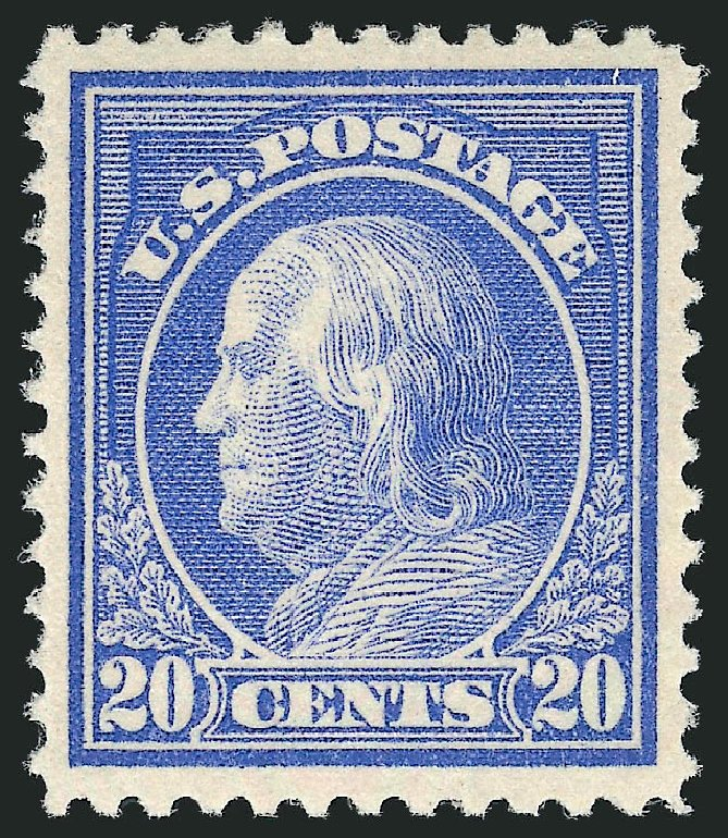 Cost of US Stamp Scott Cat. 419 - 20c 1914 Franklin Perf 12. Robert Siegel Auction Galleries, Dec 2014, Sale 1090, Lot 1501