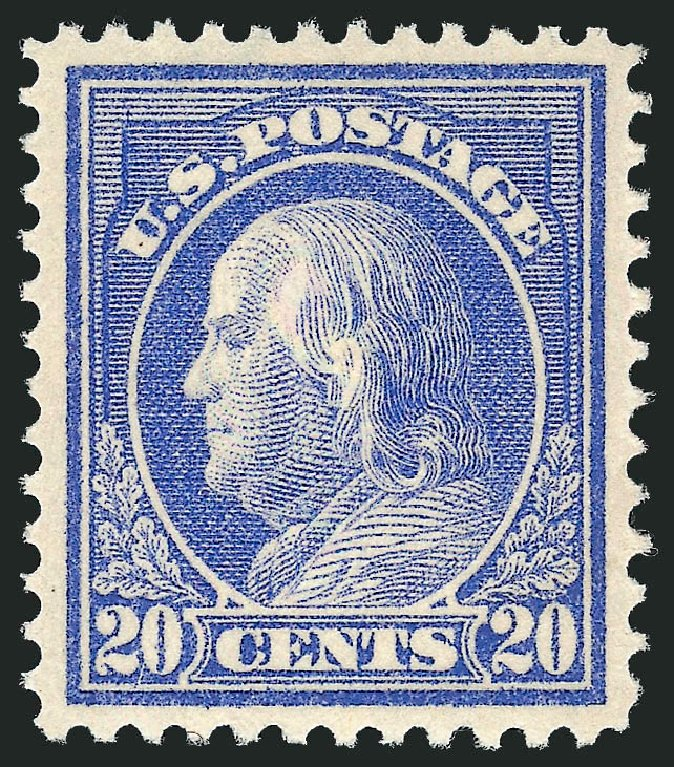 Cost of US Stamps Scott 419 - 20c 1914 Franklin Perf 12. Robert Siegel Auction Galleries, Feb 2015, Sale 1092, Lot 1305