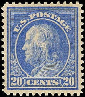 Value of US Stamp Scott Catalogue #419: 20c 1914 Franklin Perf 12. Regency-Superior, Aug 2015, Sale 112, Lot 813
