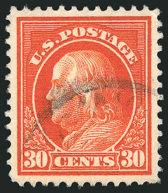 Prices of US Stamp Scott Cat. #420 - 1914 30c Franklin Perf 12. Robert Siegel Auction Galleries, Feb 2015, Sale 1093, Lot 277