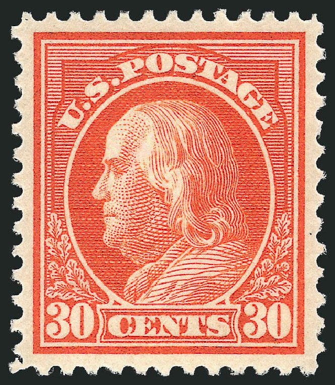 Value of US Stamps Scott Catalogue 420 - 1914 30c Franklin Perf 12. Robert Siegel Auction Galleries, Feb 2015, Sale 1092, Lot 1306
