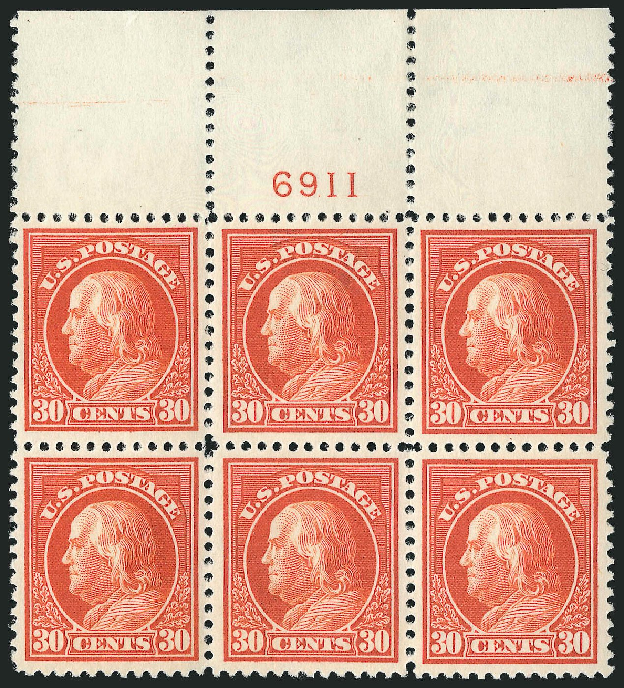 Costs of US Stamps Scott Cat. #420 - 1914 30c Franklin Perf 12. Robert Siegel Auction Galleries, Feb 2015, Sale 1093, Lot 276