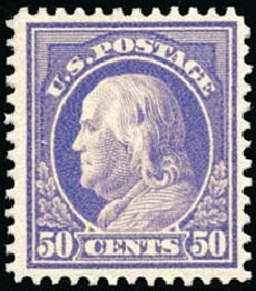 Price of US Stamp Scott Catalogue # 422: 50c 1914 Franklin Perf 12. Schuyler J. Rumsey Philatelic Auctions, Apr 2015, Sale 60, Lot 2380