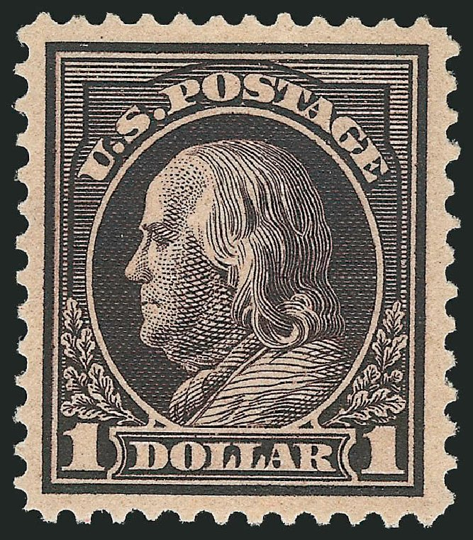 Costs of US Stamps Scott Cat. 423: 1915 US$1.00 Franklin Perf 12. Robert Siegel Auction Galleries, Apr 2015, Sale 1096, Lot 675