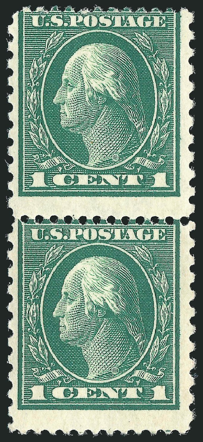 Cost of US Stamp Scott Cat. # 423A: 1c 1914 Washington 12x10. Robert Siegel Auction Galleries, Feb 2015, Sale 1093, Lot 287