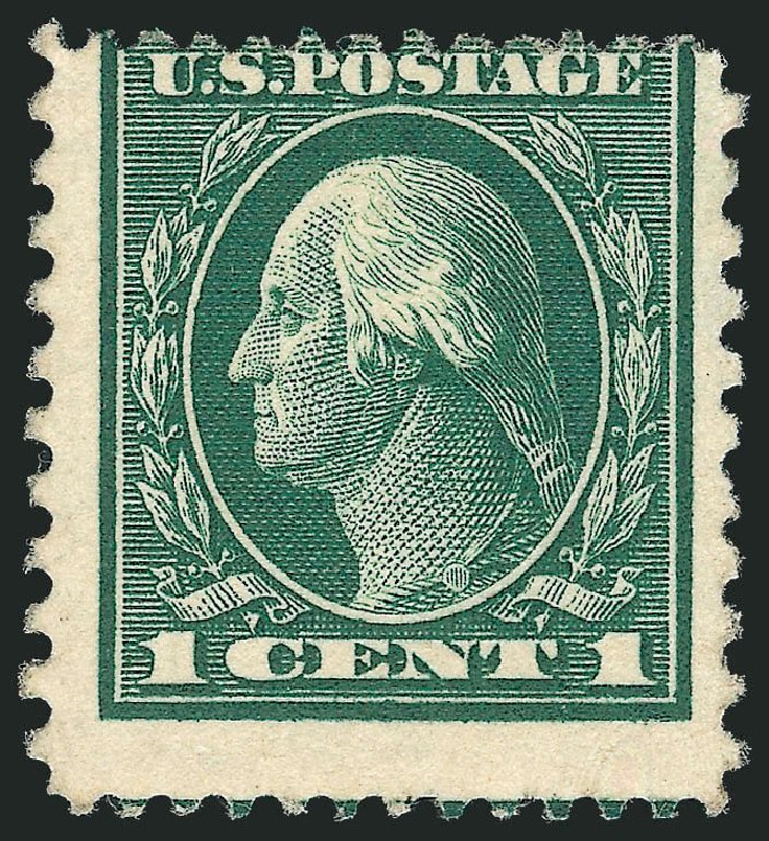 Cost of US Stamps Scott #423A: 1c 1914 Washington 12x10. Robert Siegel Auction Galleries, Dec 2010, Sale 1001, Lot 2002