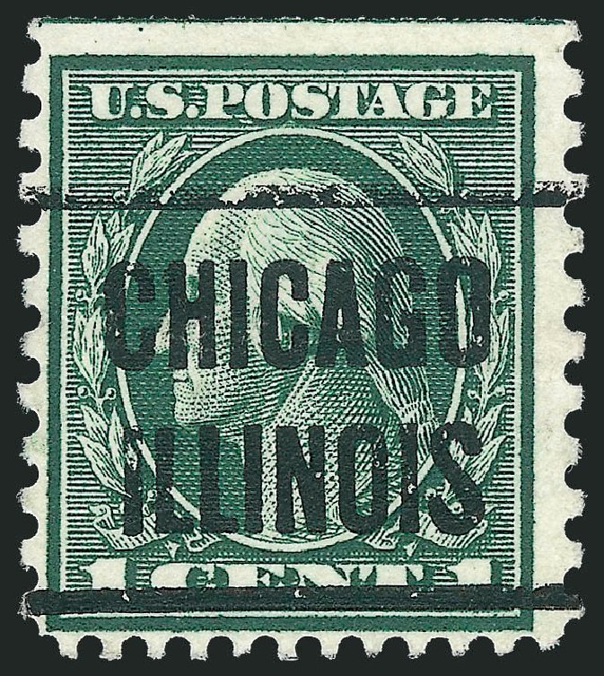 US Stamps Prices Scott Catalog 423A - 1c 1914 Washington 12x10. Robert Siegel Auction Galleries, Dec 2010, Sale 1001, Lot 2012