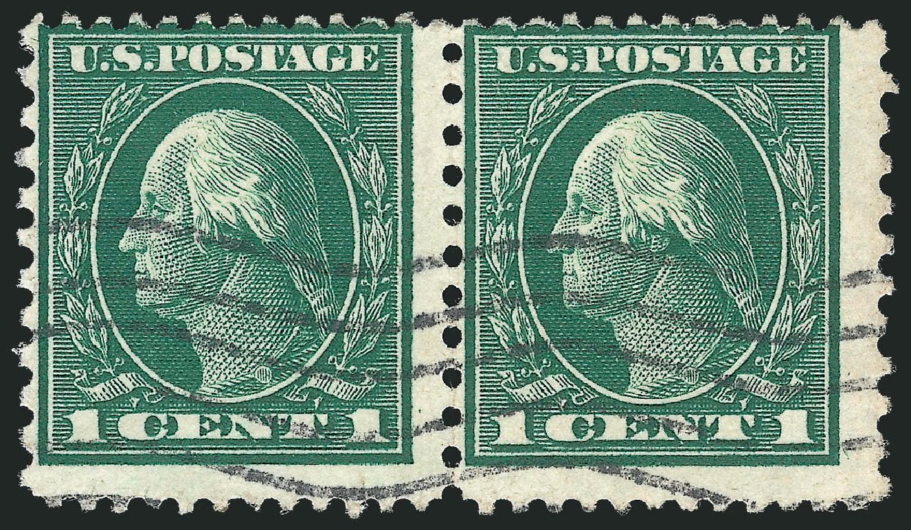 Costs of US Stamps Scott Catalog # 423A - 1914 1c Washington 12x10. Robert Siegel Auction Galleries, Dec 2010, Sale 1001, Lot 2006