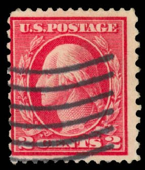US Stamps Price Scott # 423B: 1915 2c Washington 12x10. Daniel Kelleher Auctions, Sep 2014, Sale 655, Lot 485