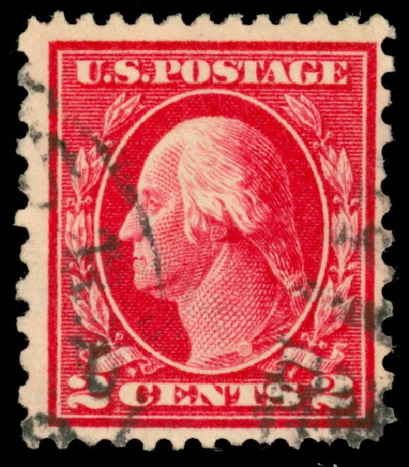 Prices of US Stamps Scott Catalog #423B: 1915 2c Washington 12x10. Daniel Kelleher Auctions, Dec 2013, Sale 640, Lot 373