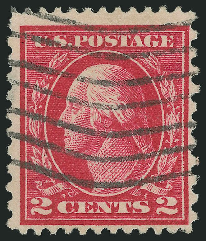 US Stamps Value Scott Catalog # 423B - 1915 2c Washington 12x10. Robert Siegel Auction Galleries, Dec 2010, Sale 1001, Lot 2023