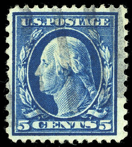 Value of US Stamps Scott # 423C: 1916 5c Washington 12x10. Matthew Bennett International, Feb 2015, Sale 351, Lot 187