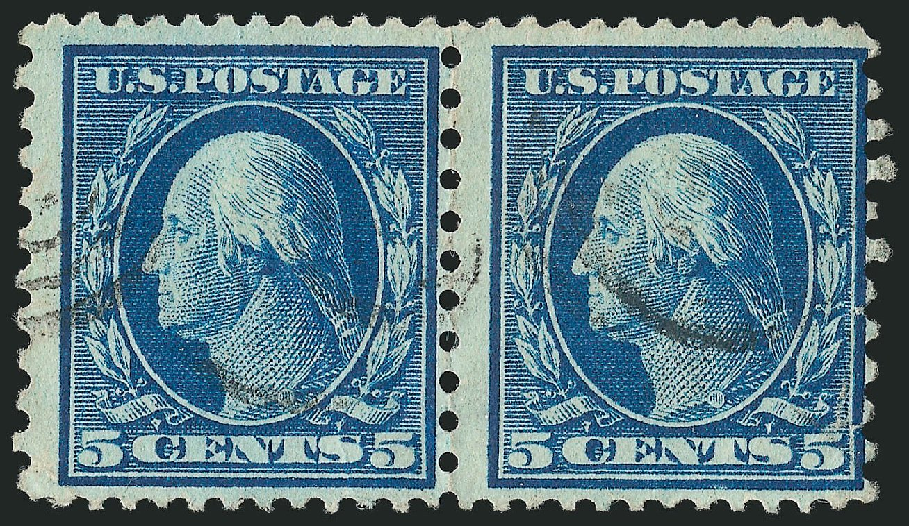 Value of US Stamp Scott Catalogue 423C - 1916 5c Washington 12x10. Robert Siegel Auction Galleries, Feb 2015, Sale 1093, Lot 290