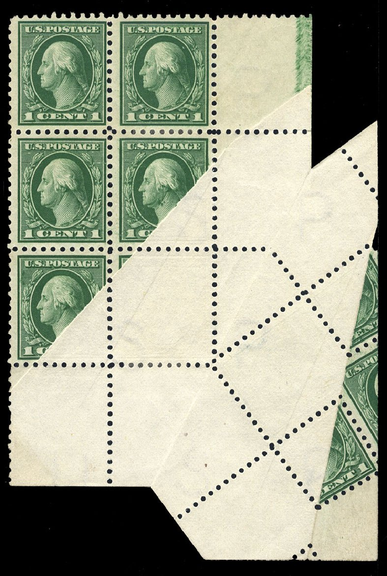 Values of US Stamps Scott Catalog # 424 - 1914 1c Washington Perf 10. Cherrystone Auctions, May 2013, Sale 201305, Lot 118