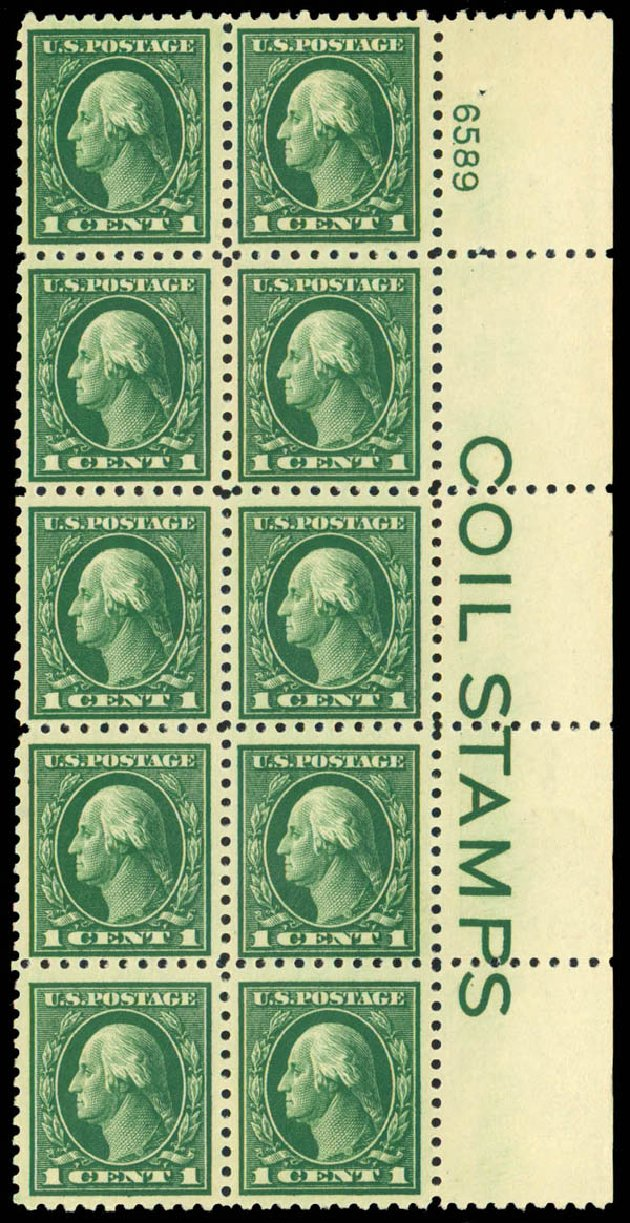 Prices of US Stamp Scott 424 - 1914 1c Washington Perf 10. Daniel Kelleher Auctions, Sep 2013, Sale 639, Lot 3540