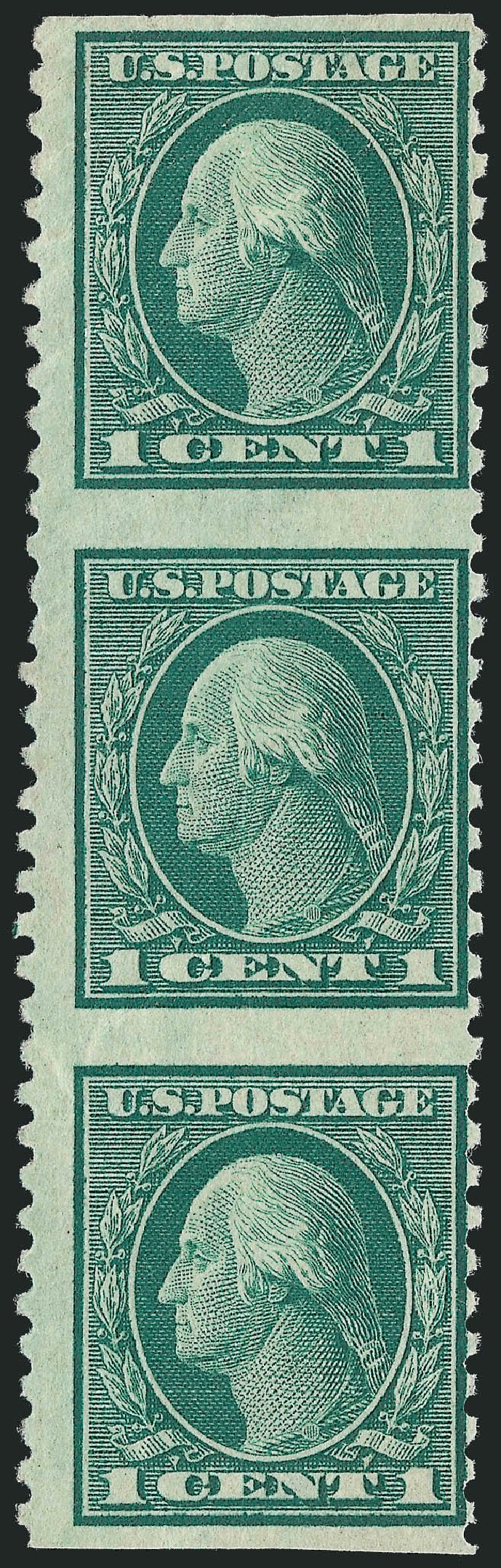 Cost of US Stamps Scott 424: 1914 1c Washington Perf 10. Robert Siegel Auction Galleries, Sep 2009, Sale 976, Lot 2011