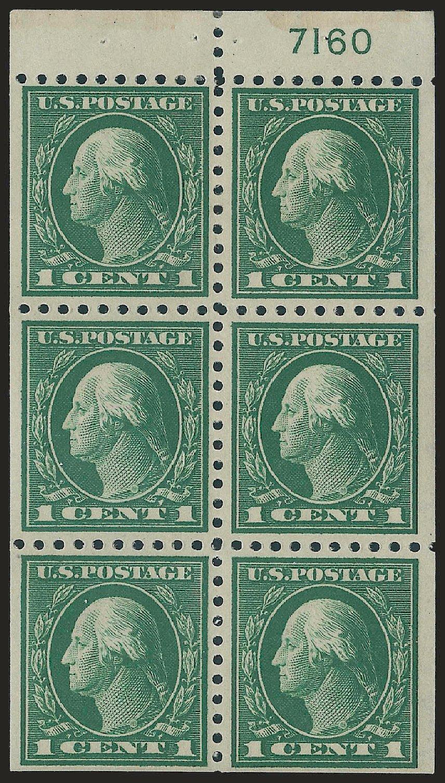 Prices of US Stamp Scott Catalog 424: 1914 1c Washington Perf 10. Robert Siegel Auction Galleries, Jun 2010, Sale 991, Lot 1221