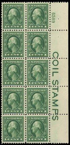 Cost of US Stamps Scott Catalogue # 424: 1c 1914 Washington Perf 10. Daniel Kelleher Auctions, Oct 2011, Sale 626, Lot 374