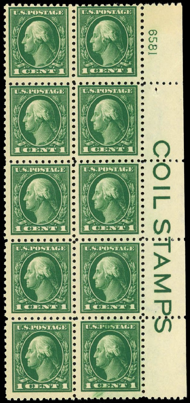 Cost of US Stamps Scott Catalogue # 424: 1914 1c Washington Perf 10. Daniel Kelleher Auctions, Jan 2015, Sale 663, Lot 1784