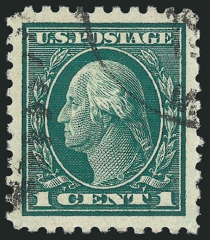 Cost of US Stamps Scott 424: 1c 1914 Washington Perf 10. Robert Siegel Auction Galleries, Oct 2011, Sale 1014, Lot 1902