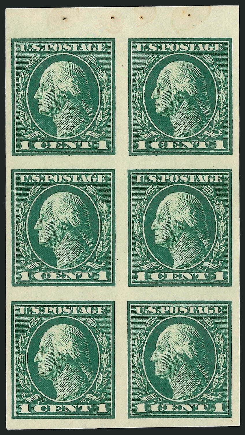 Cost of US Stamps Scott Cat. # 424 - 1c 1914 Washington Perf 10. Robert Siegel Auction Galleries, Sep 2014, Sale 1078, Lot 522