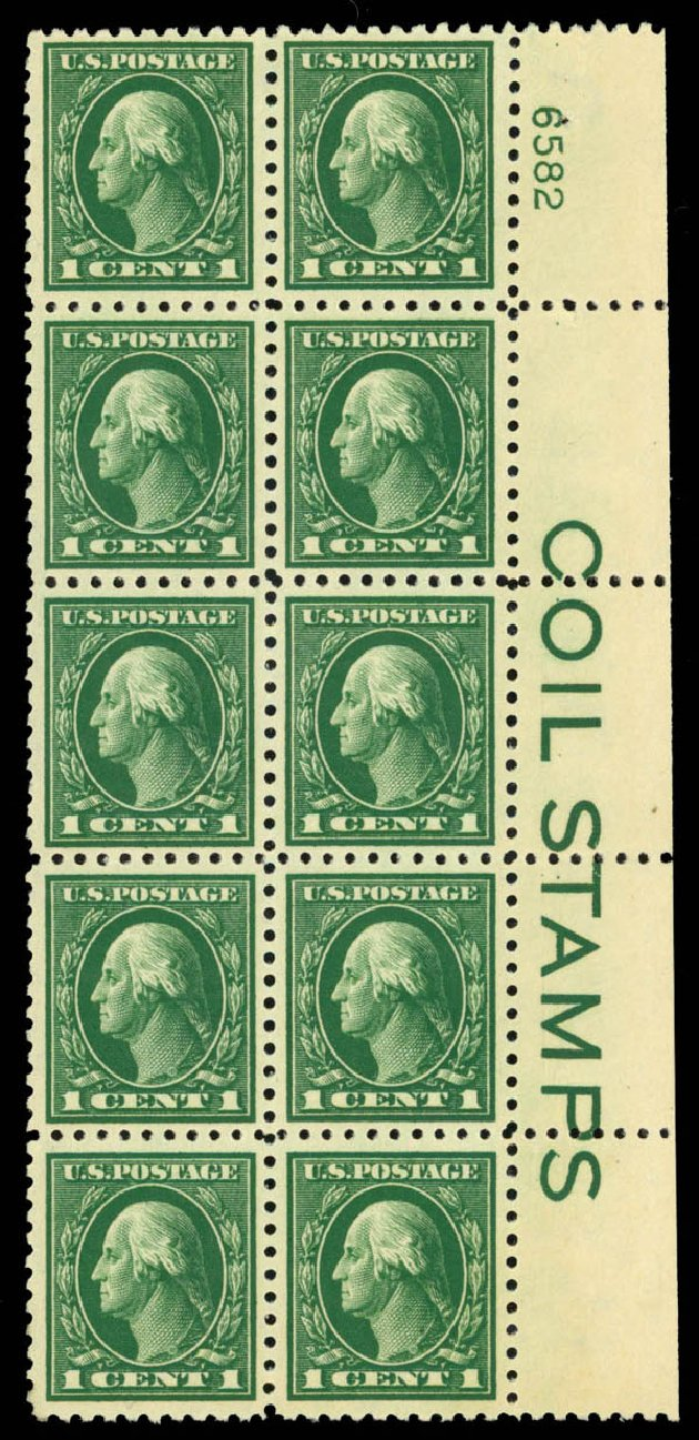 Prices of US Stamps Scott Catalog # 424: 1c 1914 Washington Perf 10. Daniel Kelleher Auctions, Aug 2015, Sale 672, Lot 2723