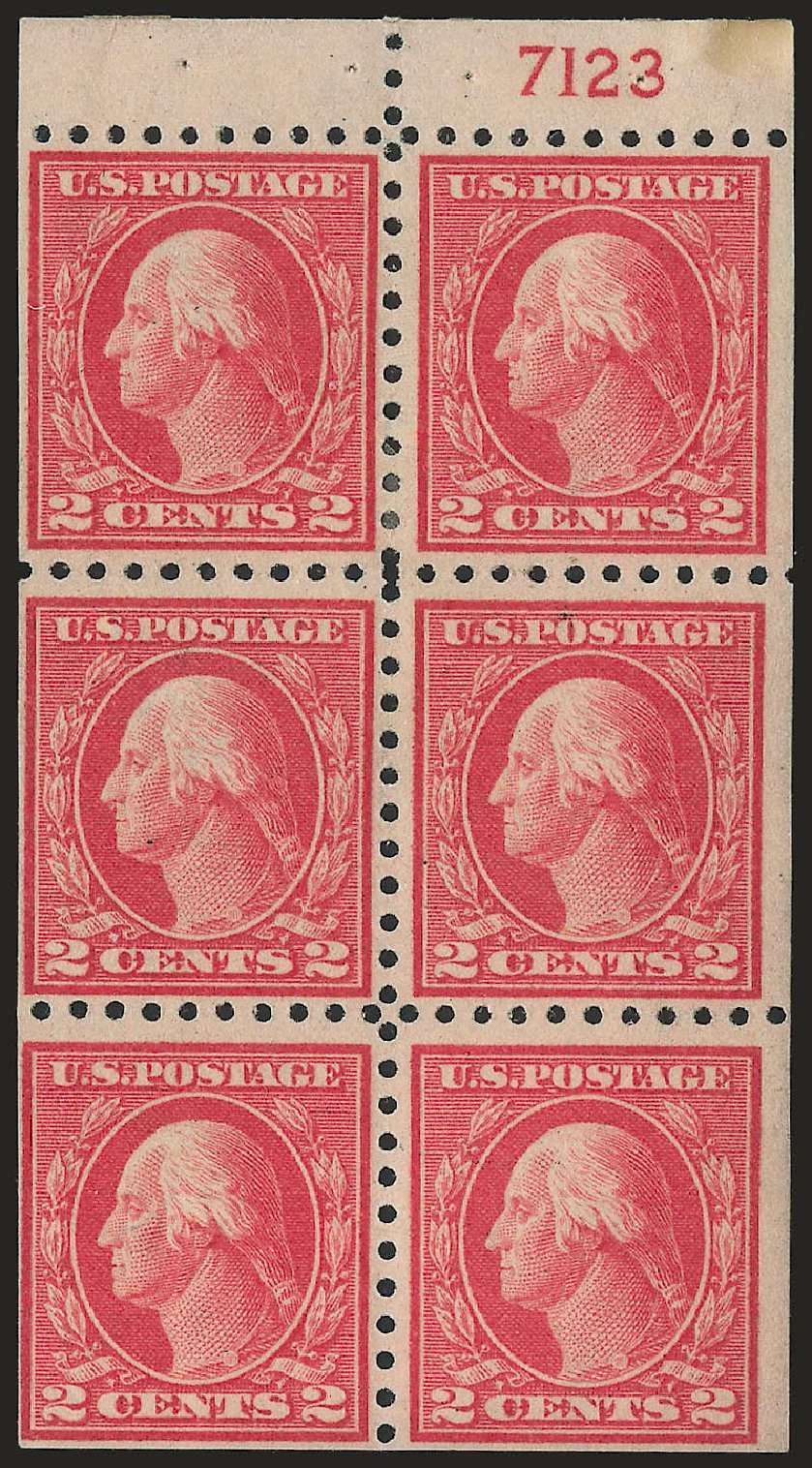 US Stamp Prices Scott 425: 2c 1914 Washington Perf 10. Robert Siegel Auction Galleries, Jun 2010, Sale 991, Lot 1229