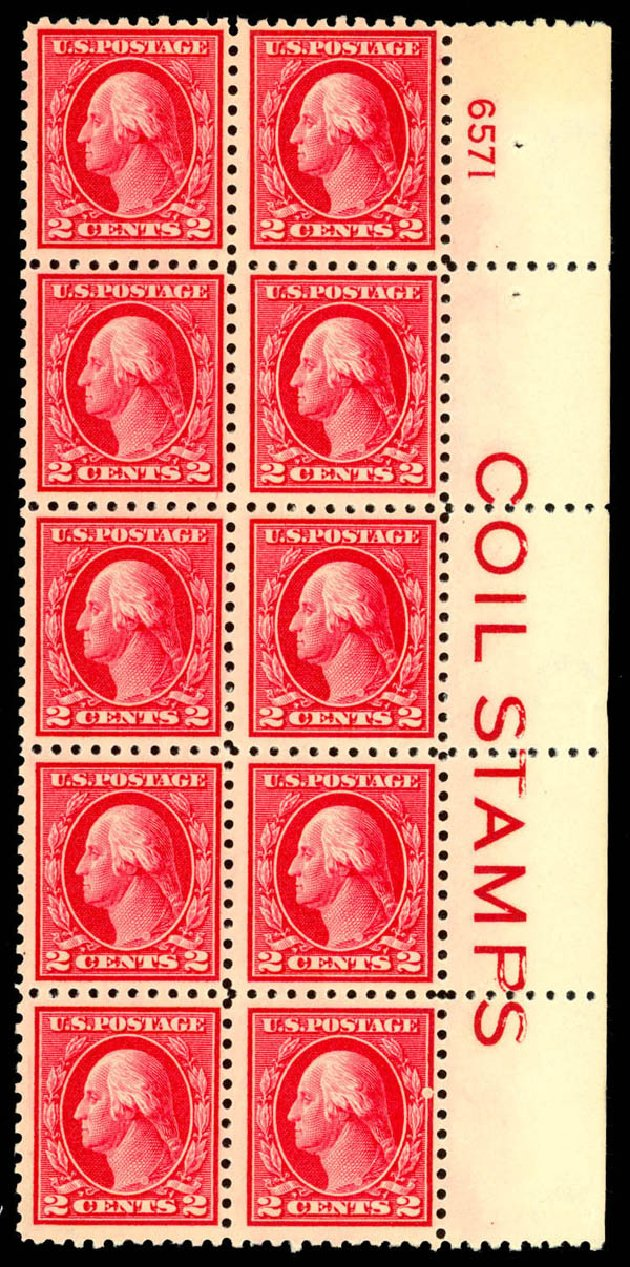 US Stamps Values Scott Cat. #425: 1914 2c Washington Perf 10. Daniel Kelleher Auctions, Mar 2013, Sale 635, Lot 530