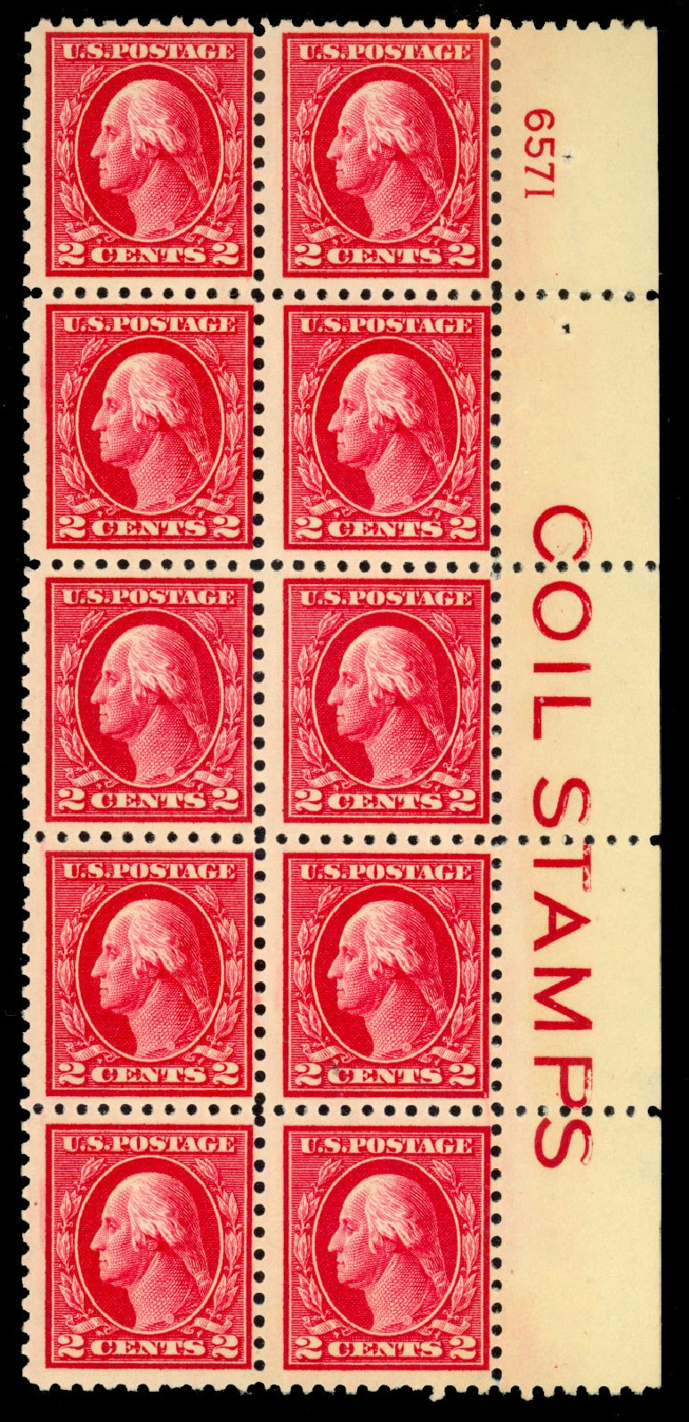 US Stamp Prices Scott 425 - 2c 1914 Washington Perf 10. Daniel Kelleher Auctions, Dec 2013, Sale 640, Lot 375