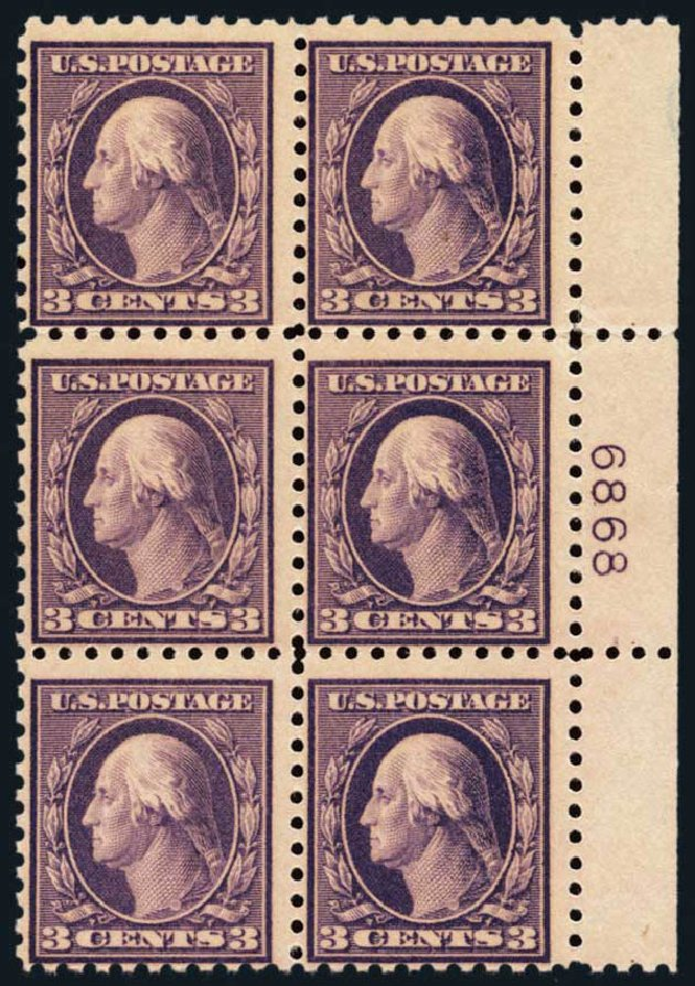 Price of US Stamps Scott #426 - 1914 3c Washington Perf 10. Harmer-Schau Auction Galleries, Oct 2013, Sale 99, Lot 181