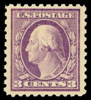 Values of US Stamp Scott Cat. #426: 3c 1914 Washington Perf 10. Daniel Kelleher Auctions, Mar 2013, Sale 635, Lot 531