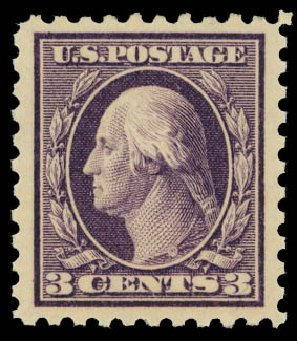 Cost of US Stamp Scott Catalog 426: 3c 1914 Washington Perf 10. Daniel Kelleher Auctions, Jan 2012, Sale 628, Lot 495