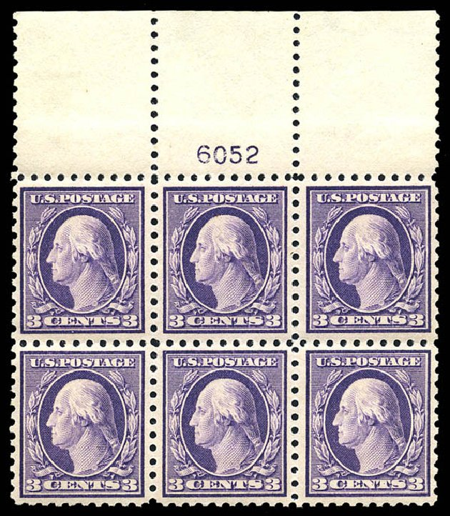 Costs of US Stamps Scott 426 - 1914 3c Washington Perf 10. Matthew Bennett International, May 2014, Sale 350, Lot 576
