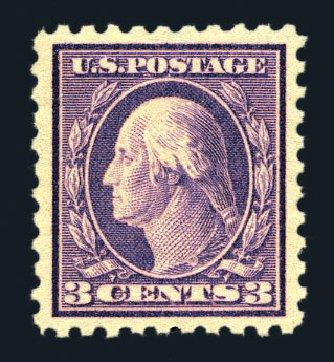 US Stamps Value Scott Cat. #426: 3c 1914 Washington Perf 10. Harmer-Schau Auction Galleries, Aug 2015, Sale 106, Lot 1816