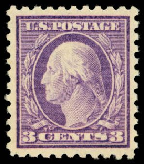 Prices of US Stamps Scott 426 - 3c 1914 Washington Perf 10. Daniel Kelleher Auctions, Dec 2014, Sale 661, Lot 356