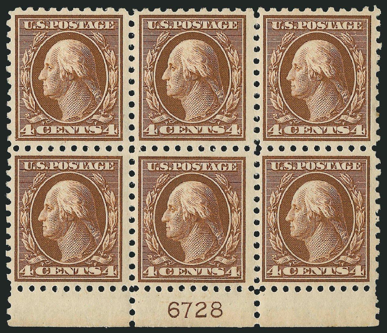 US Stamps Values Scott Catalog #427: 4c 1914 Washington Perf 10. Robert Siegel Auction Galleries, Mar 2014, Sale 1067, Lot 1517