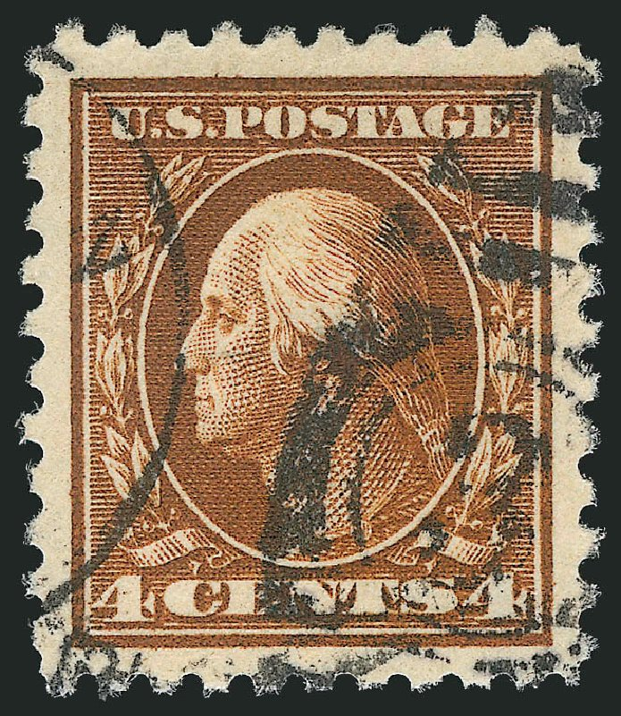 Prices of US Stamp Scott Catalogue 427 - 4c 1914 Washington Perf 10. Robert Siegel Auction Galleries, Mar 2014, Sale 1067, Lot 1518