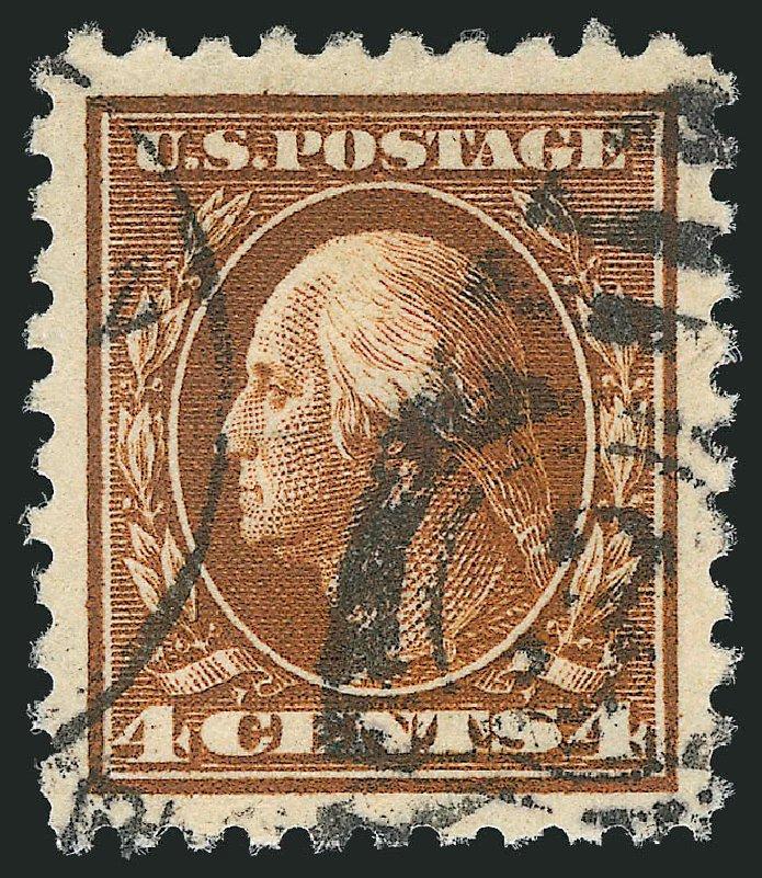 Prices of US Stamp Scott Catalogue 427 - 4c 1914 Washington Perf 10. Robert Siegel Auction Galleries, Mar 2014, Sale 1067, Lot 1518