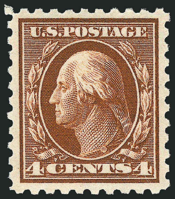 US Stamp Prices Scott Catalogue 427: 1914 4c Washington Perf 10. Robert Siegel Auction Galleries, Dec 2013, Sale 1062, Lot 610
