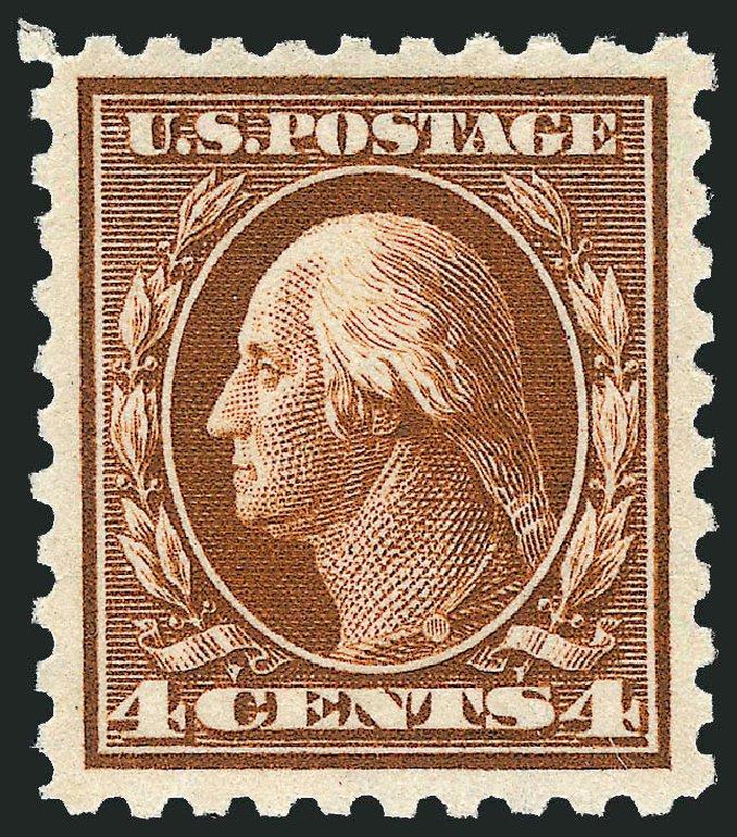 US Stamp Prices Scott Catalogue 427: 1914 4c Washington Perf 10. Robert Siegel Auction Galleries, Dec 2013, Sale 1062, Lot 610