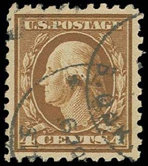 Prices of US Stamps Scott # 427: 1914 4c Washington Perf 10. H.R. Harmer, Jun 2013, Sale 3003, Lot 1301